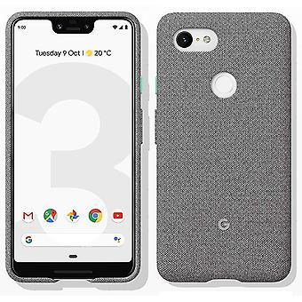 New Genuine Official Google Pixel 3 XL Fabric Case Cover GA00490 - Fog