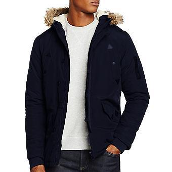 Rohkea sielu miesten Noel tekoturkiksia Borg vuorattu huppu pehmustettu talvitakki takki takki