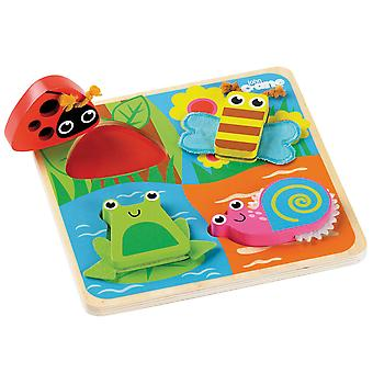 Tidlo Wooden Sensory Touch and Feel Jigsaw Puzzle (Bugs)