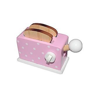 Einfach für Kinder aus Holz Toaster + Brot Pink