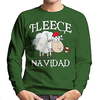 Fleece Navidad kerst schapen mannen Sweatshirt
