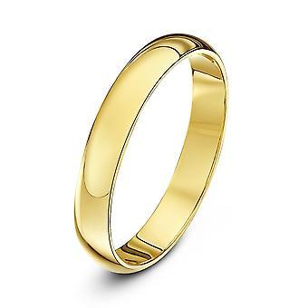 Star Wedding Rings 18ct Yellow Gold Heavy D 3mm Wedding Ring