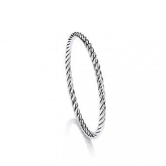 Cavendish Franse Sterling Zilver eeuwige touw Twist Bangle