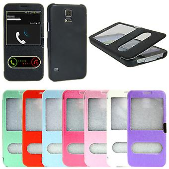 2 in 1 Flip case Samsung Galaxy S6 with Magnet lock + screen protector