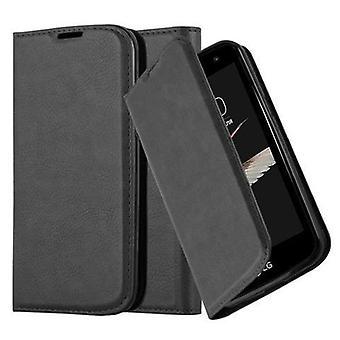 Cas Cadorabo pour la couverture de cas LG K4 2016 - étui de téléphone mobile avec fermoir magnétique, fonction de stand et compartiment de carte - Cas Cover Protection Case Book Folding Style