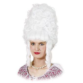 女性のリーゼント。白。