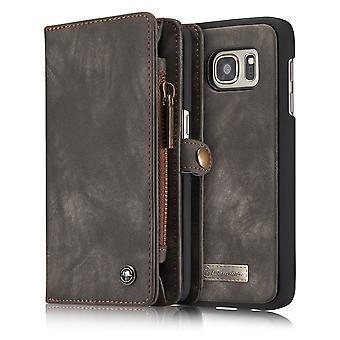 CASEME Samsung Galaxy S7 Retro leather wallet Case-grey