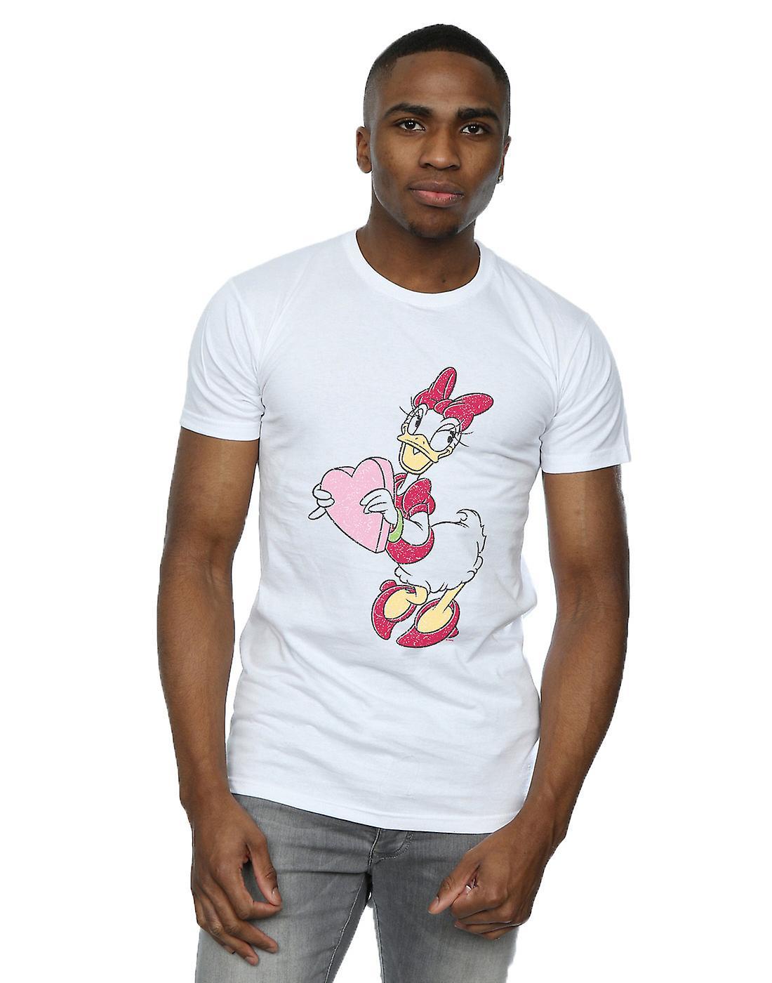 Disney Men's Daisy Duck Love Heart T-Shirt