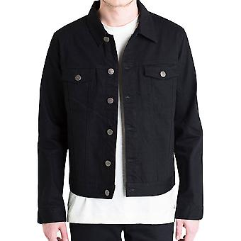 Embellish Phantom Denim Jacket in Black