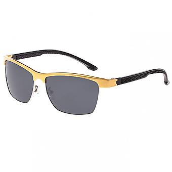 Breed Bode Aluminium Polarized Sunglasses - Gold/Black