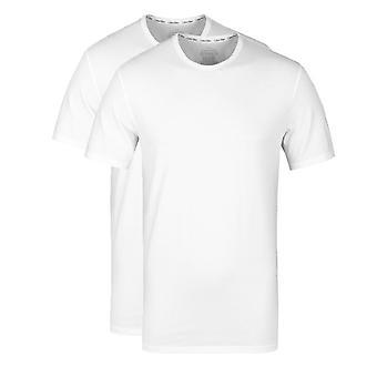 Calvin Klein 2 Pack White Crew Neck Slim Fit T-Shirts