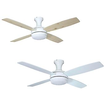 Ceiling fan Saturn White with light and remote control