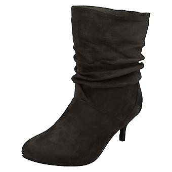 Ladies posto sulla balza con tacco stivali