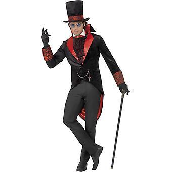Kostium Dracula Tuxedo kapelusz i krawat