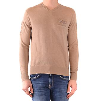 La Martina Ezbc259012 Men's Beige Cotton Sweater