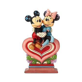 Disney Traditions Mickey and Minnie 'Heart to Heart' Figurine