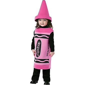 Pink Crayola Toddler Costume 3-4 years