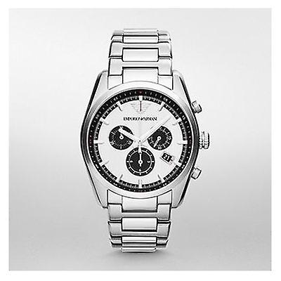 Emporio Armani Ar6007 Mens New Tazio Chronograph Silver Watch