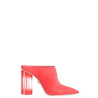 Le Silla Ezbc372001 Femmes-apos;s Red Suede Slippers