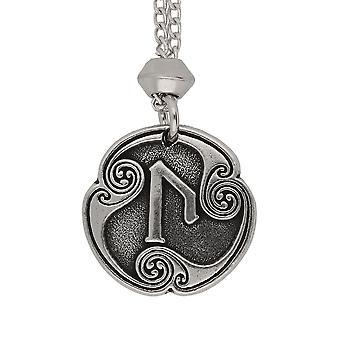 Handmade Viking Norse Uruz Rune di raggiungimento della 2 ° lettera runica peltro ciondolo