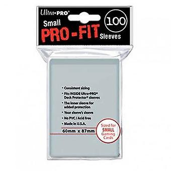 Ultra Pro mangas Pro-Fit Clear C100 jogo de cartas pequeno