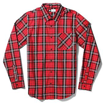 Lrg RC Long Sleeve Poplin Plaid Woven Shirt Red