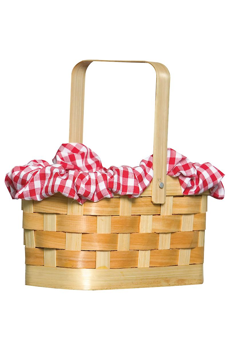 Adult Mini Gingham Picnic Basket World Book Day Fancy Dress Costume Accessory