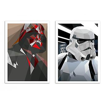 2 kunst-posters 30 x 40 cm-Vador en Storm-Liam Brazier