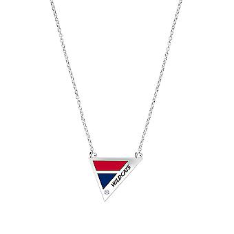 University of Arizona Diamond Pendant Necklace In Sterling Silver Design by BIXLER