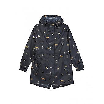 Joules Golightly chaqueta impermeable para mujer - perros de la marina (204454)