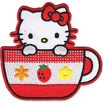 Patch - Hello Kitty - Tea Cup Iron On Licensed Gifts Toys  p-hk-0010