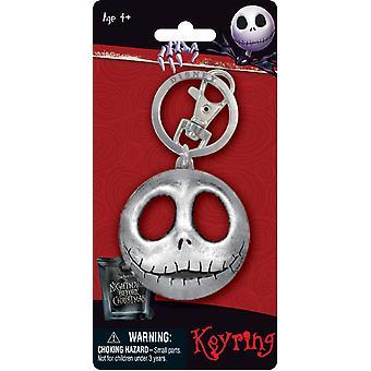 Metalen sleutelhanger-Nightmare before Christmas-Jack hoofd tinnen sleutelhanger