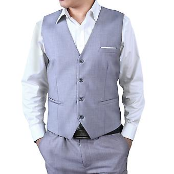 Allthemen Men's Suit Vest Cotton Blend Business Casual Slim Fit Vest 9 Colors