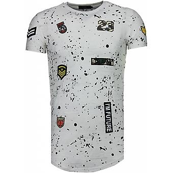 Military Patches Paint Splash - T-Shirt - White