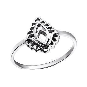 Leaf - 925 Sterling Silver Plain Rings - W24599X