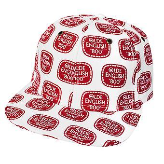 Olde angielski na całym print hat