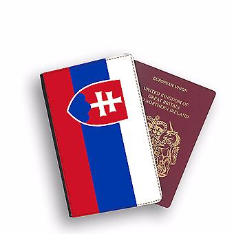 SLOVAKIA Flag Passport Holder Style Case Cover Protective Wallet Flags design
