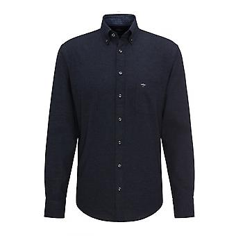 Fynch-Hatton Fynch-hatton Button Down Collar Long Sleeved Shirt Navy