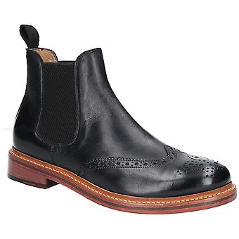 Cotswold Mens Siddington couro Brogue Chelsea Ankle Boots