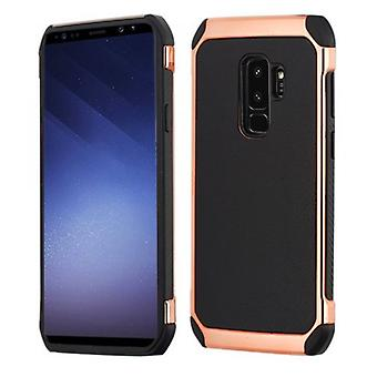 SAMSUNG GALAXY S9 PLUS ASMYNA BLACK LYCHEE GRAIN/(ROSE GOLD PLATING)/BLACK ASTRONOOT CASE