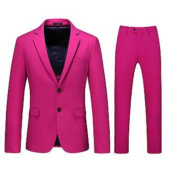 Allthemen Men's 3-Piece Tuxedos Bright Color Business Casual Blazer&Vest&Pants