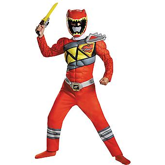 Jungen Red Ranger Dino Muskel Kostüm - Power Rangers
