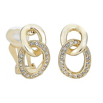 Traveller clip earring - 22ct gold plated - Swarovski Crystals - 156985