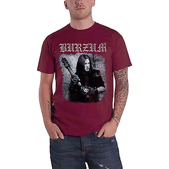 Burzum T Shirt Anthology 2018 Album cover Band logo new Official Mens Maroon