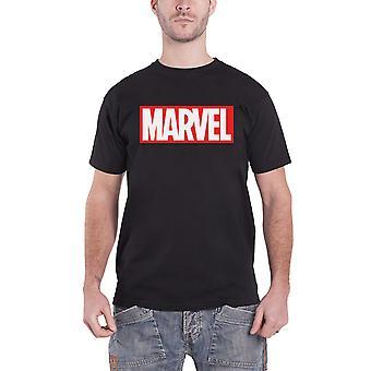 מארוול קומיקס חולצת T קלאסי לוגו מתאגרף חדש הרשמי Mens שחור
