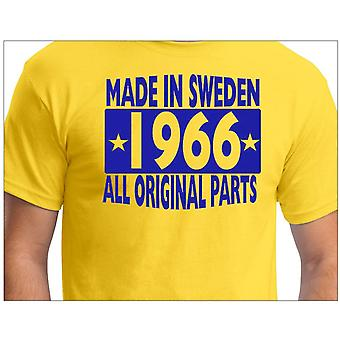 T-shirt jaune made in Sweden 1966 ALL Original Parts