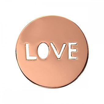 Nikki Lissoni Love It Is Small Rose Gold Plated Coin C1106RGS