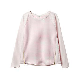 Top de Jersey Adaline de Joules con zip detail Pink Stripe