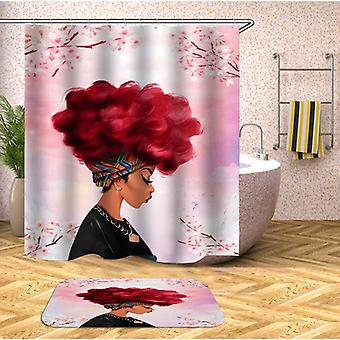 Pinkish Beautiful Black Girl Shower Curtain