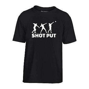 T-shirt bambino nero dec0190 lancio del peso